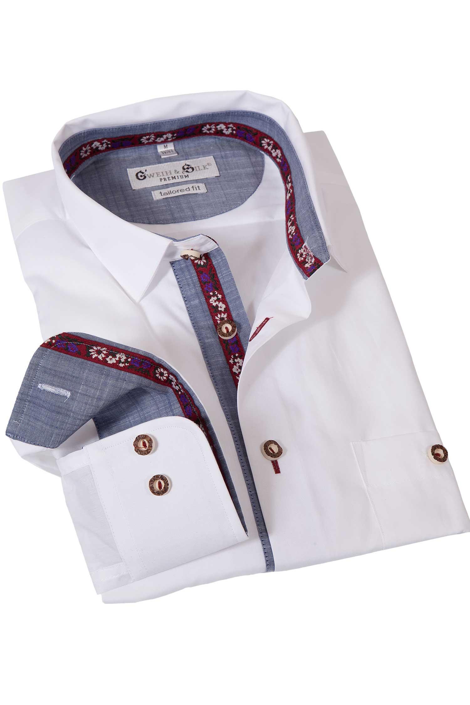 Trachtenhemd Rießensee in weiß