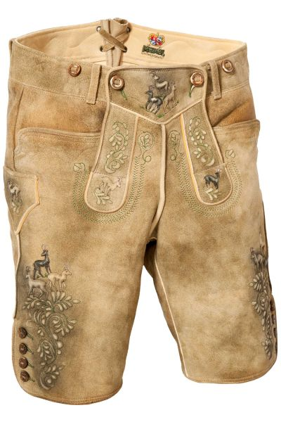 Meindl Lederhose Gamsleiten aus Ziege in braun antik