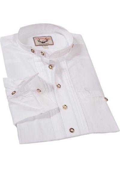 Trachtenhemd aus Leinen in weiß als Schlupfhemd