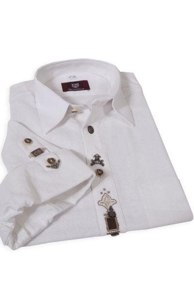 Trachtenhemd Markus weiß als Landhaushemd von Orbis