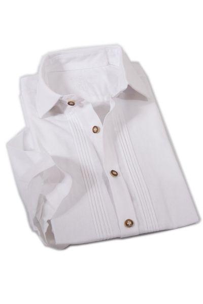Klassisches Trachtenhemd in weiß Kurzärmelig