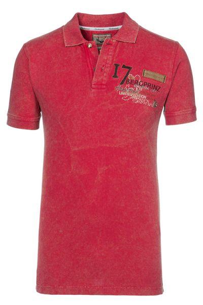Herren Poloshort rot Trachtenshirt 1