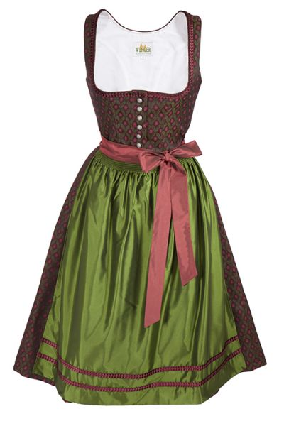 Designer Dirndl traditionell in bordeaux von Wenger