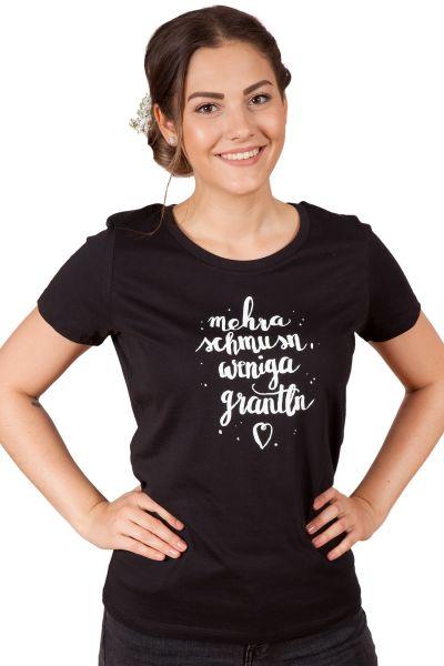 Damen Trachten Shirt in schwarz Mehra schmusn