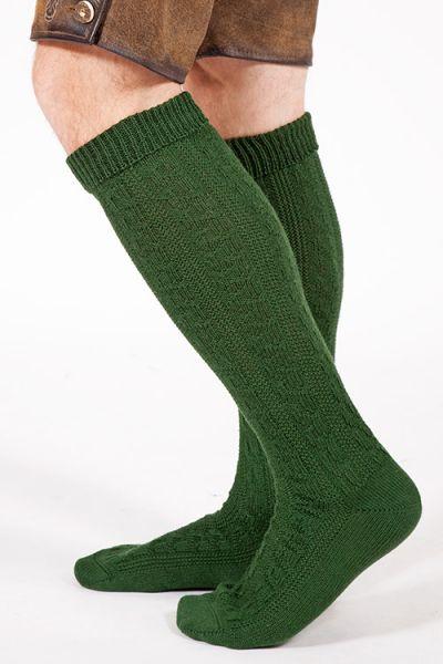 Trachten Kniestrümpfe aus Wolle in dunkelgrün