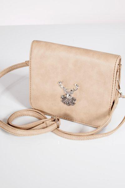 Trachtentasche beige natur mit Hirsch Schultertasche
