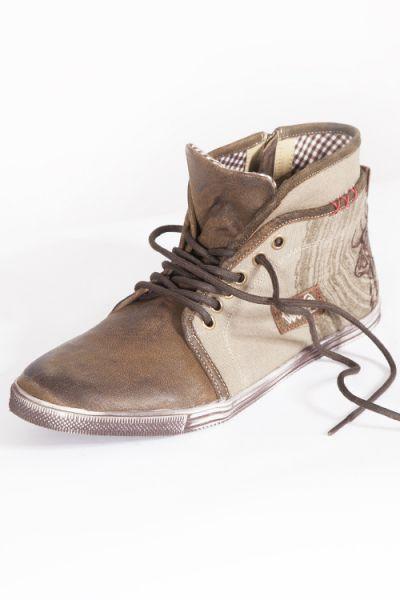 Trachten Sneaker in braun und oliv von Spieth & Wensky