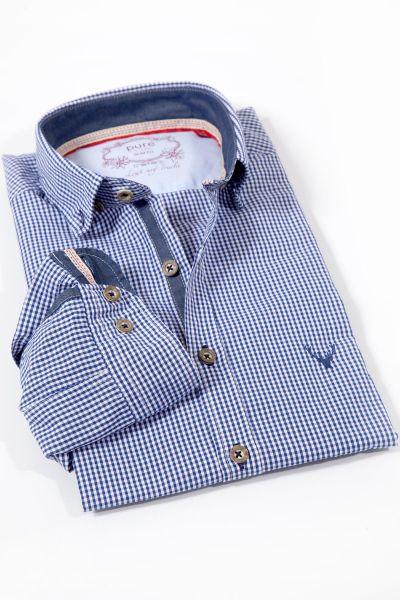 Trachtenhemd von pure in Vichykaro blau weiß kariert