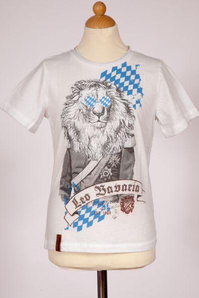 Kinder Trachten T-Shirt Leo Bavaria weiß