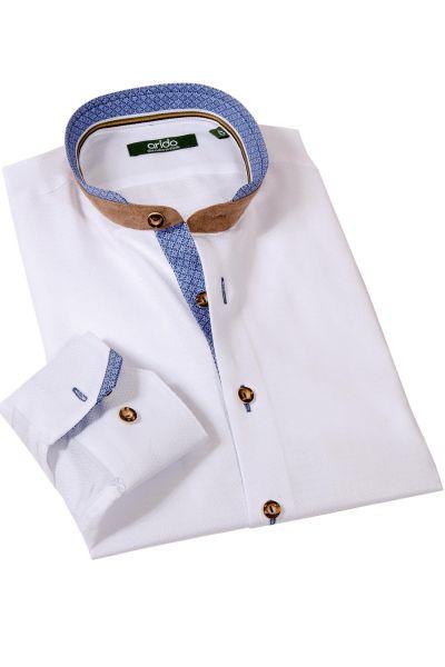 arido Trachtenhemd edel in weiß mit blau