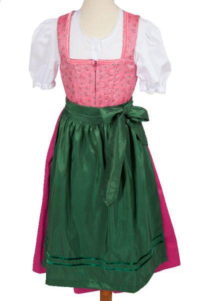 Kinder Dirndl Annette in rosa pink und grün