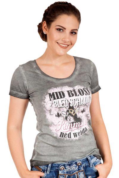 Damen Trachten T-Shirt Aloisia grau