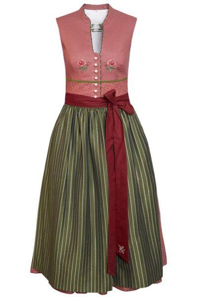 Traditionelles Designer Dirndl in altrosa aus Baumwolle