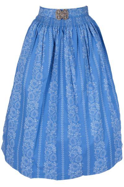 Dirndlschürze 70 cm Anita aus Baumwolle in leuchtblau