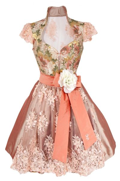 Designer Dirndl Beloved in apricot und gold