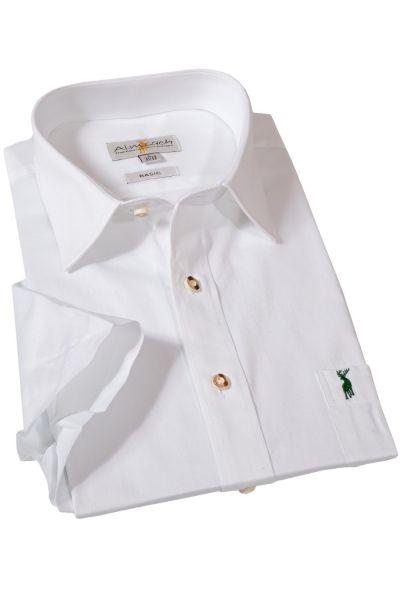 weißes Trachtenhemd kurzärmelig mit Kragen