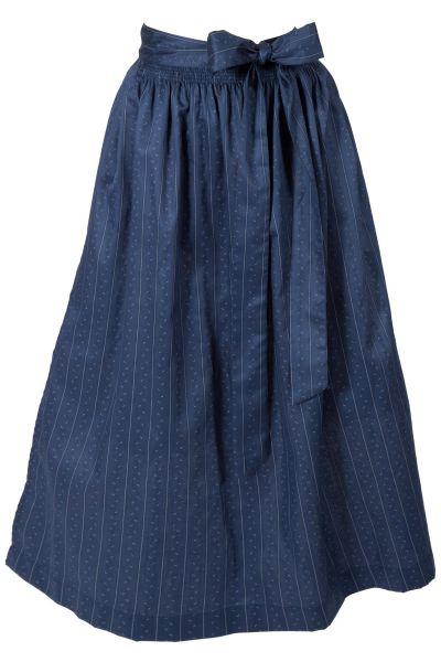 Dirndlschürze lang aus Baumwolle in dunkelblau