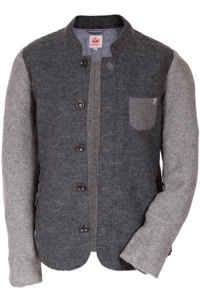 Trachtenjanker aus Walk & Wolle in grau für Herren