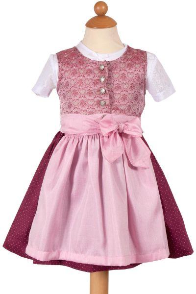 Babydirndl Anja 3-teilig in rosa und beere