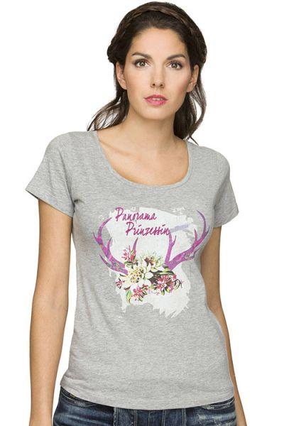 Trachten Shirt Damen Nora von Stockerpoint grau  vorn