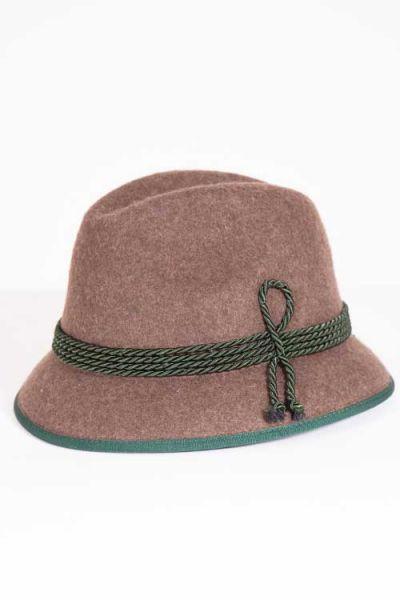Trachtenhut Goiserer Hut in braun und Tanne
