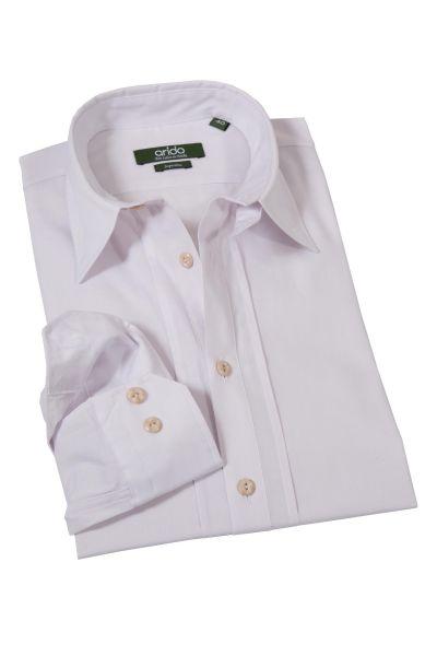 Trachtenhemd rein weiß von arido mit Stretch