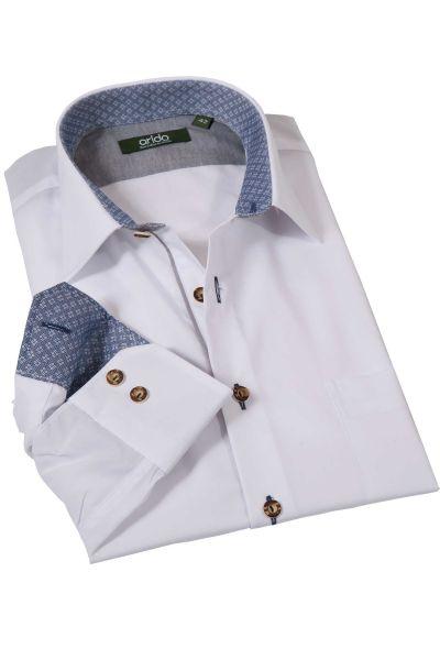 Trachtenhemd in weiß mit blau von arido