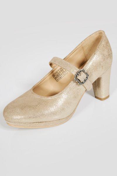 Damen Trachtenschuhe als Pumps in gold