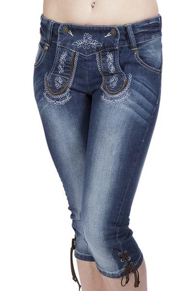Kniebundhose Jeans Momo Trachtenjeans cool stretch