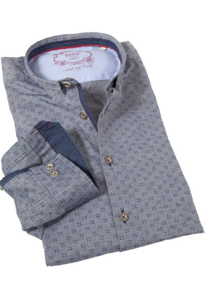 Trachtenhemd im Vintage Look in dunkelblau