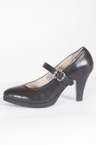 d3cd02694672f1 Trachten Schuhe Pumps schwarz mit Schnalle Dirndlschuhe 1