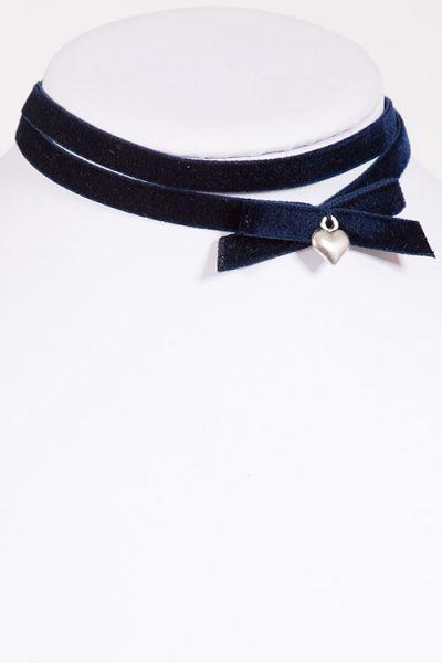 Kropfband Choker aus Samt in dunkelblau