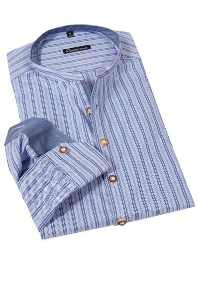Herren Trachtenhemd mit Streifen in blau