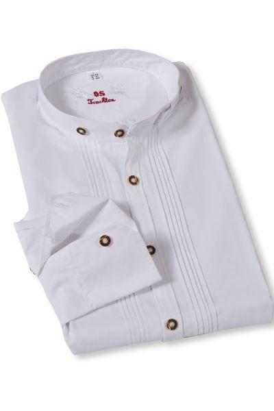 Trachtenhemd Herren in weiß mit Stehkragen von Orbis