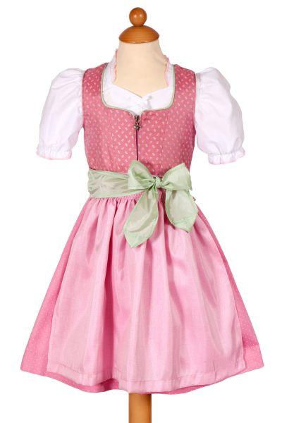 Baby Dirndl Rosa-Maria in rosa und altrosa