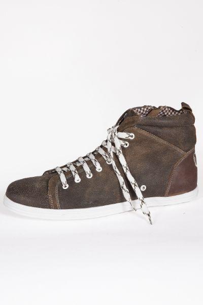 Trachten Schuhe als Herren High Sneaker in tabak braun  Trachten Schuhe als Herren High Sneaker in tabak braun  paar