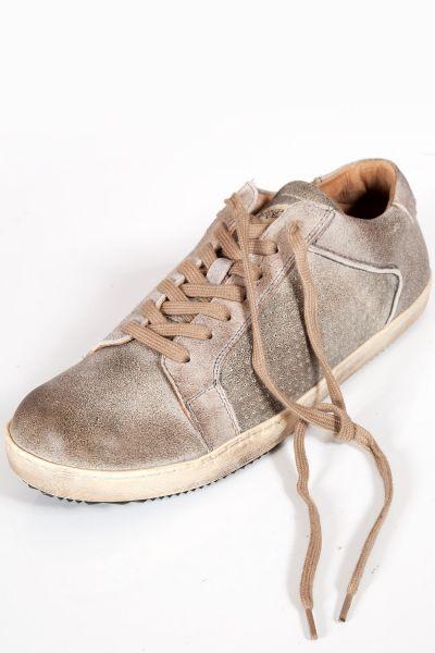 Herren Trachten Sneaker in rauch grau aus Leder