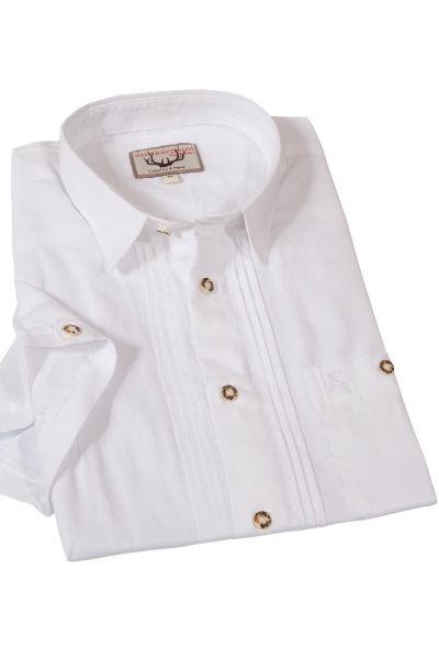 Trachtenhemd Bodo weiß kurzärmelig