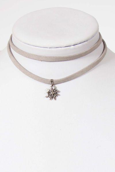 Trachtenkette zum wickeln in grau