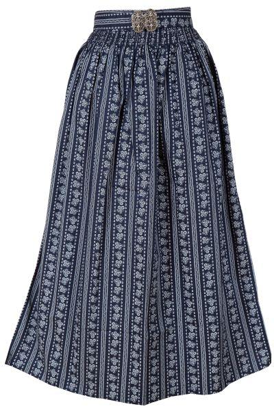 Dirndlschürze lang 90 cm aus Baumwolle in dunkelblau