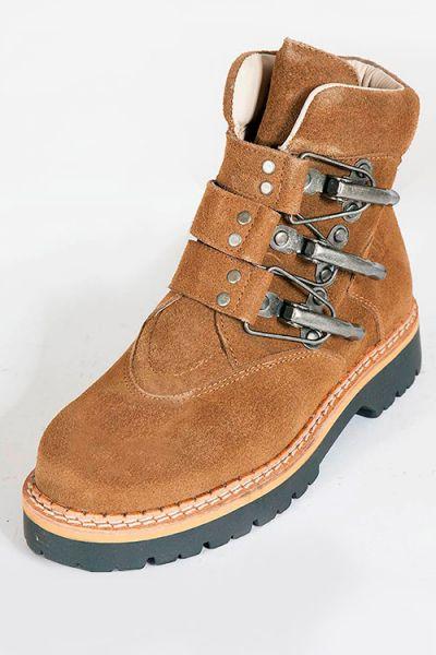 Damen Trachten Schuhe als Trachtenstiefel in braun