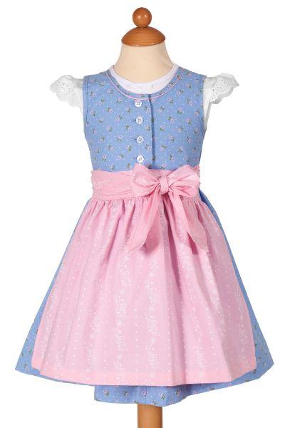 Babydirndl Astrid aus Baumwolle in hellblau