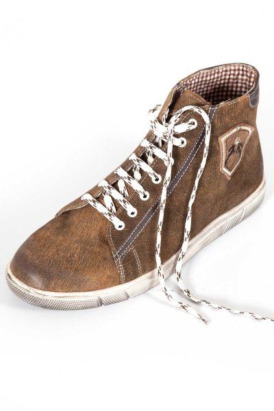 Trachten Sneaker Marinus in braun used knöchelhoch