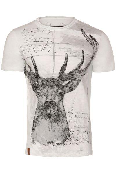 Trachten T-Shirt Sascha in weiß