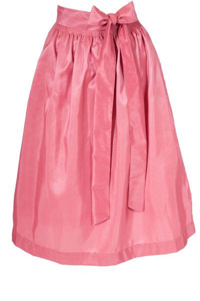 Dirndlschürze aus Taft in rosa mit Glanz