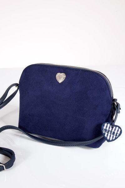 Trachtentasche in marine mit Reißverschluss