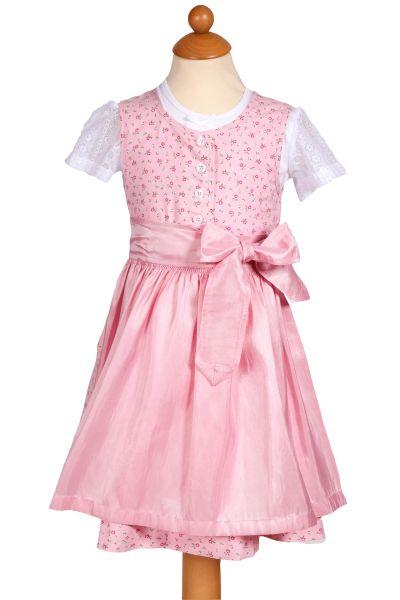 Baby Dirndl Angela in rosa mit Knöpfen