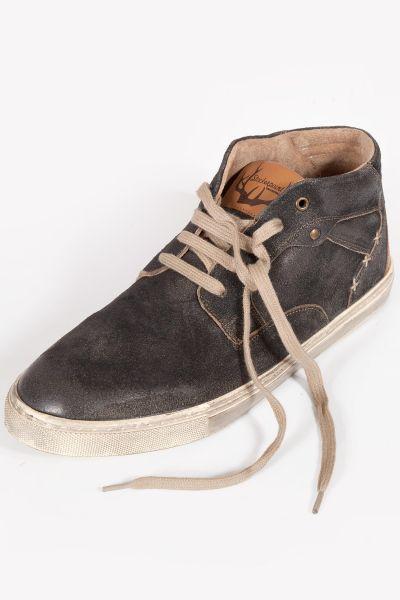Herren Trachten Schuhe als Leder Sneaker in schwarz