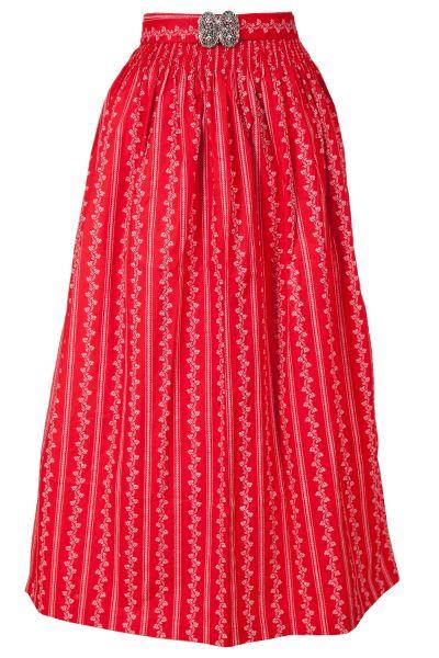 Dirndlschürze lang 90 cm aus Baumwolle in rot