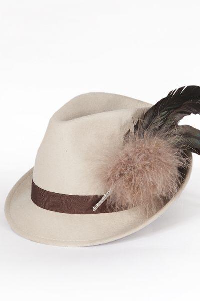 Trachtenhut für Damen in beige als Dirndl Hut 1Trachtenhut für Damen in beige als Dirndl Hut  2